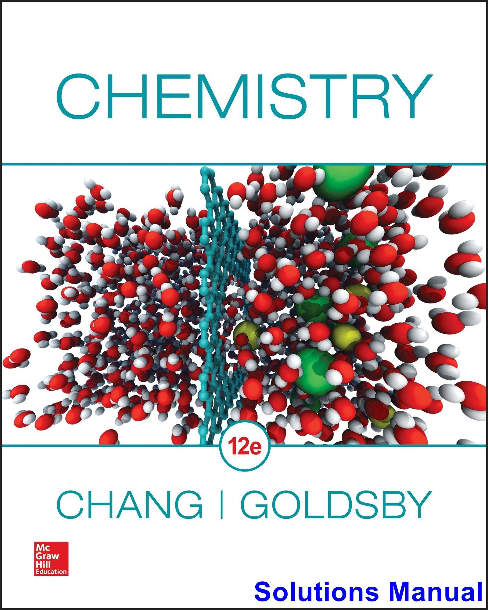Chemistry 12th Edition Chang Solutions Manual Digital Deal Promotion 2021 생화학 교육