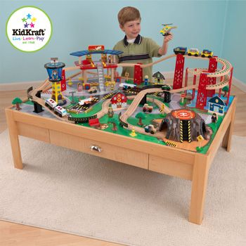 KidKraft Airport Express Train Set and Table (3+ Years) | Vehicles ...