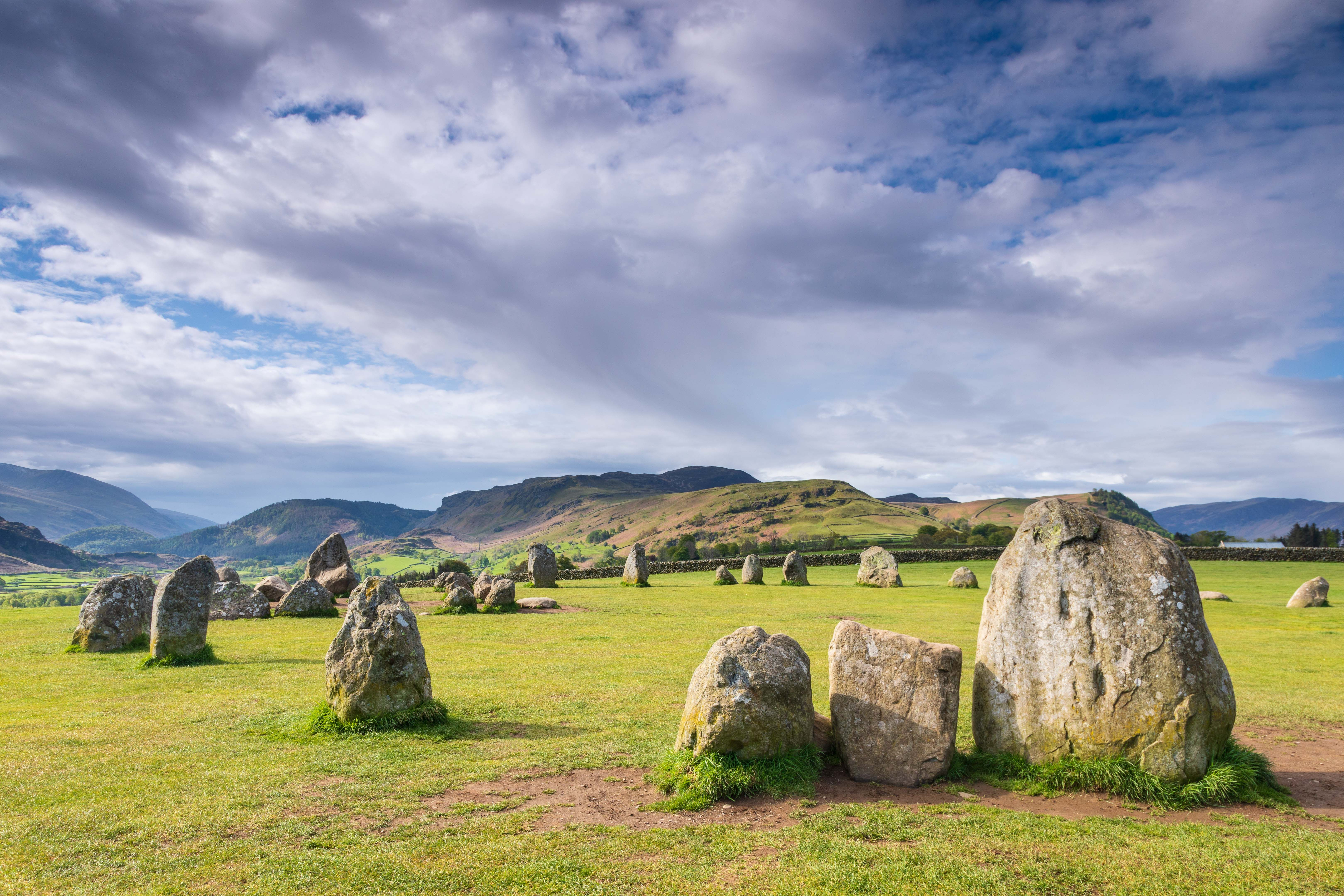 'Castlerigg Stone Circle, Keswick, Cumbria' Art Print by