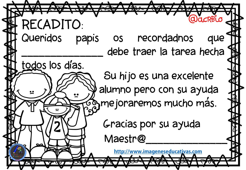 Recados y avisos para papás y mamás in 2018 | escuela | Pinterest ...
