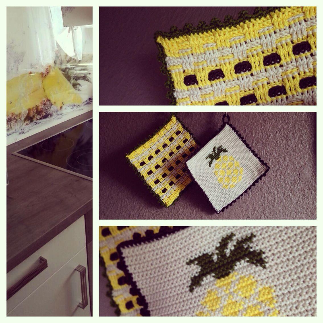 Crochet Potholder /// Häkel Topflappen | Crochet • My Works | Pinterest