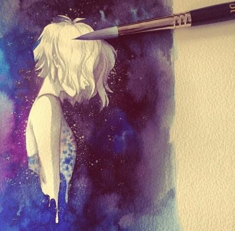 art, anime, and paint image