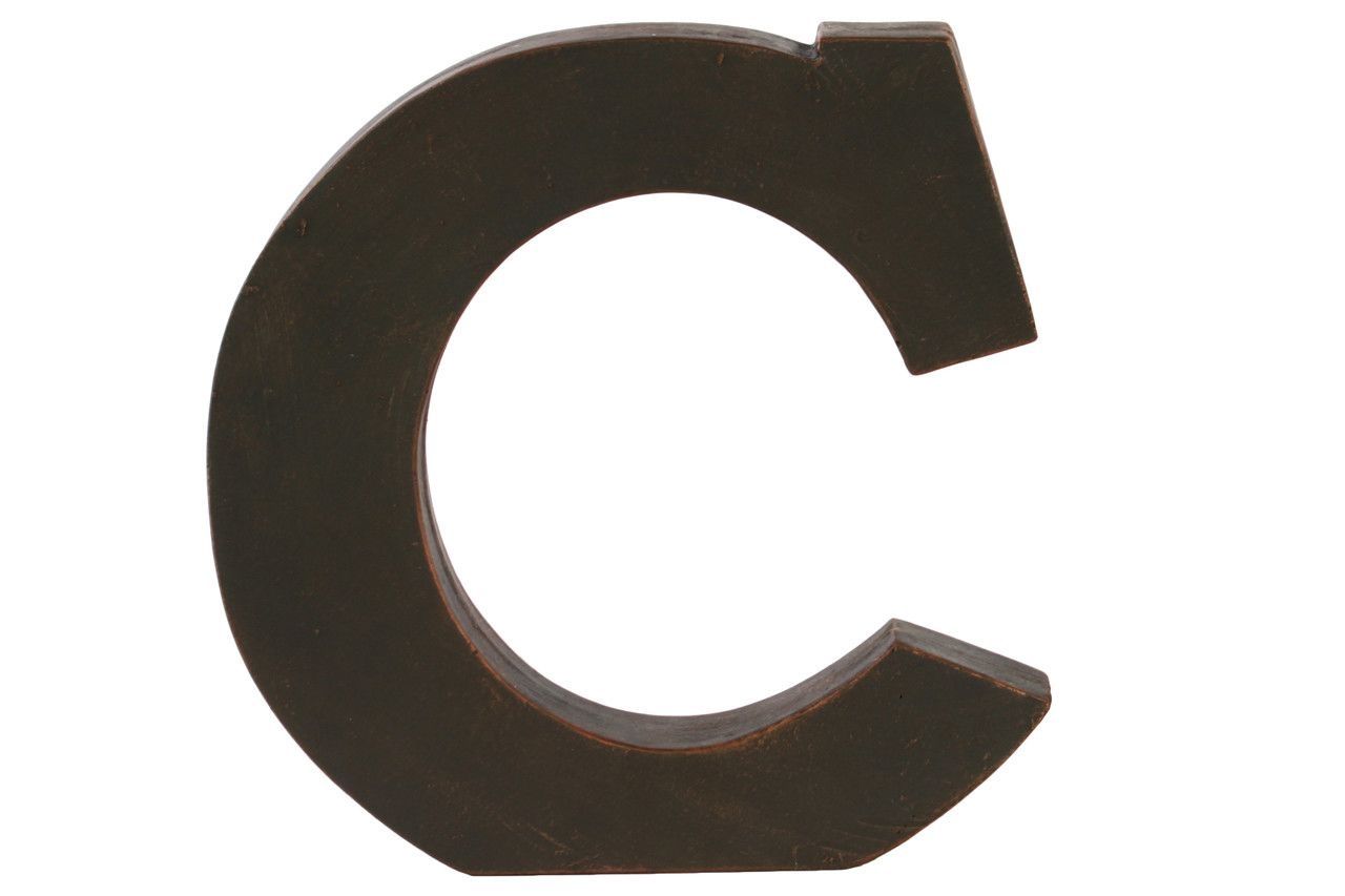 Fiberstone Alphabet Tabletop Decor C Letter Block  Products