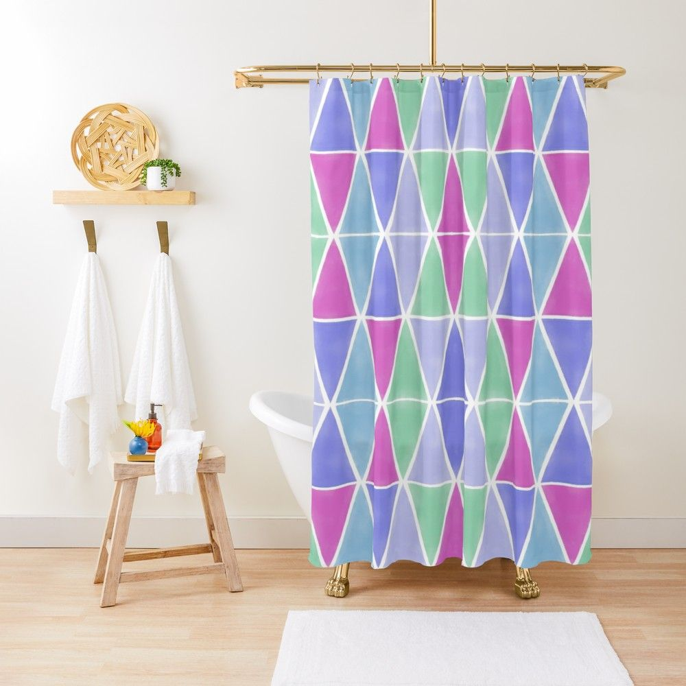 Geometric Design By Ruth Blohm Hunter Shower Curtain Curtains
