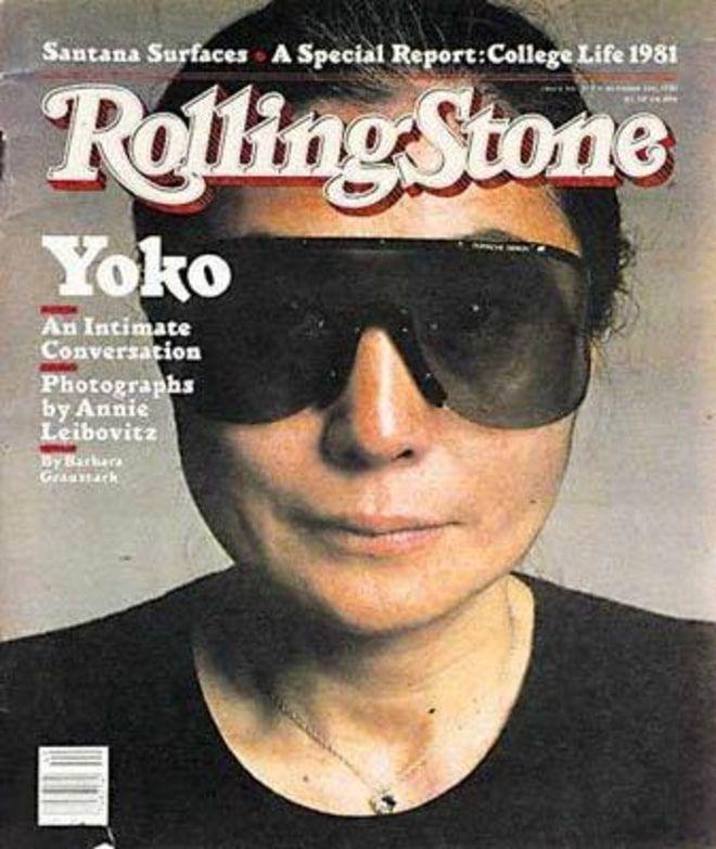 09b2fae83a Yoko Ono Cover photo by Annie Leibovitz October 1981