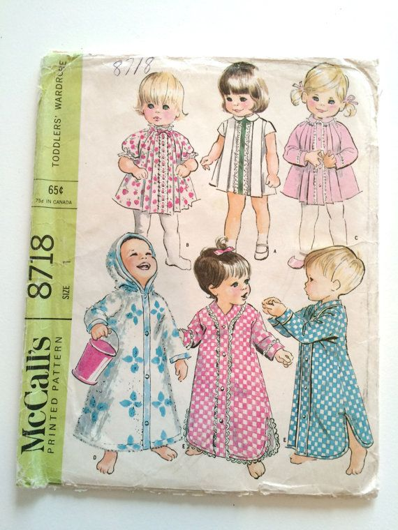 Vintage Sewing Pattern 1960s UNCUT Toddler by RetroVintageButtons