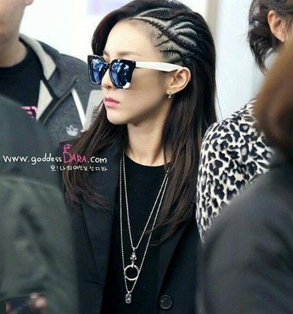 Sandara Park Hair Style 2ne1 Dara Mirrored Sunglasses Women Love Her Style