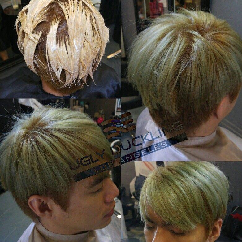 Asian Mens Hair Color To Ash Green Hairstyling Sgsalon