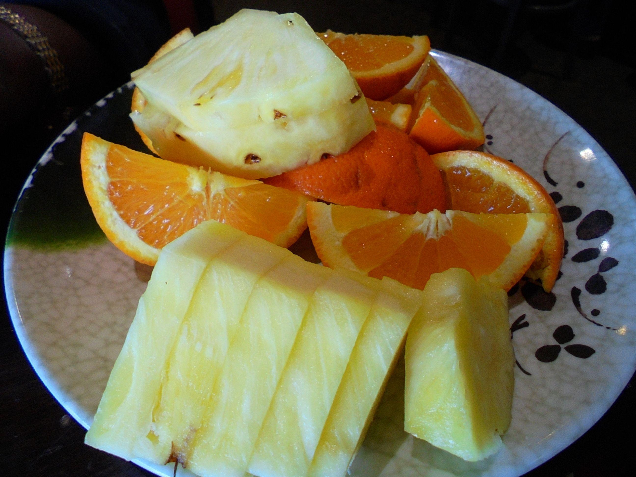 #Fresh #sliced #dessert / #Orange and #Pineapple
