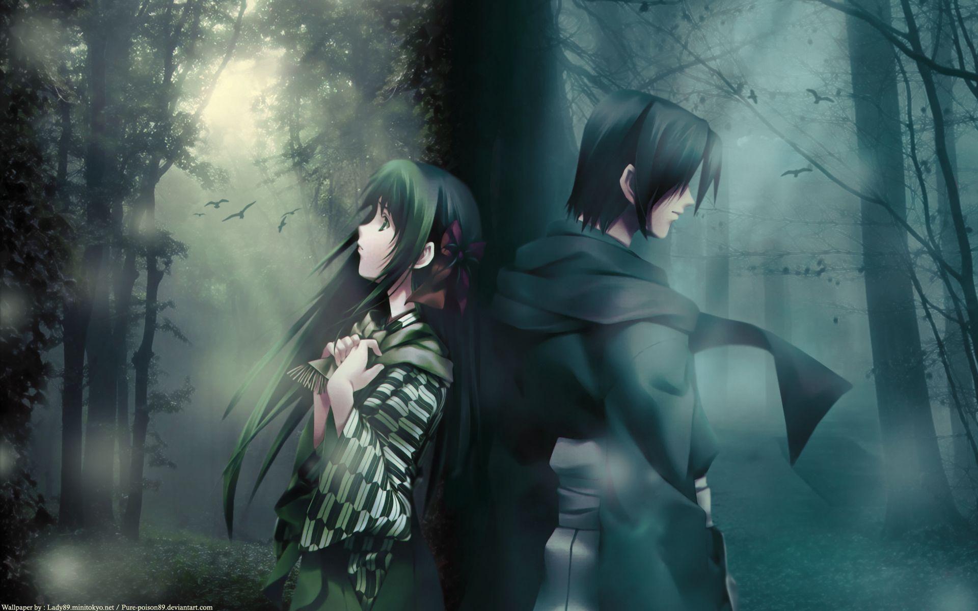 Pin On Anime Wallpaper Anime couple heart wallpaper