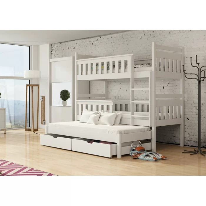 Betsy Single (3') Triple Sleeper Bunk Bed with Trundle