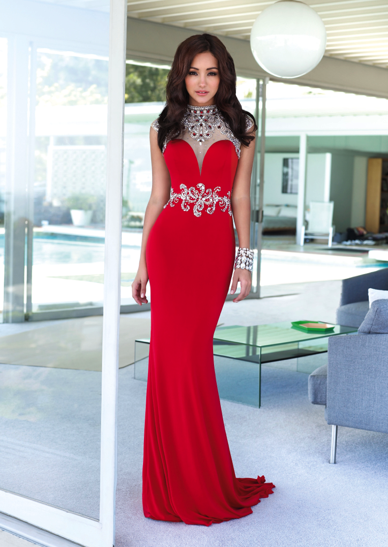 26ab3cdf56c melanie iglesias in red alyce paris red carpet dress
