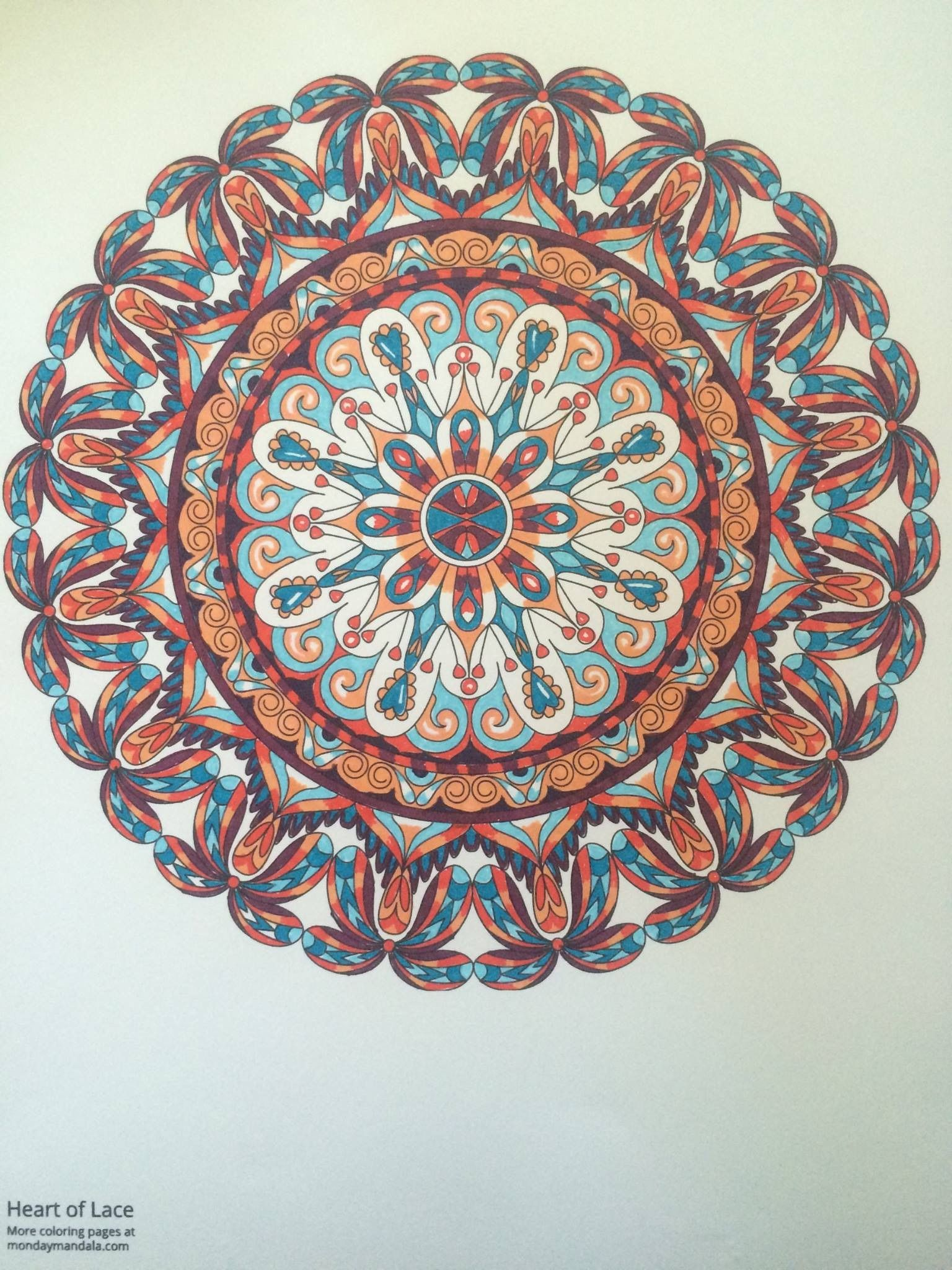 Pin By Monday Mandala On Finished Mandalas In Color