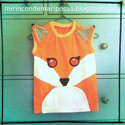 mi rincón de mariposas: Lo vi y me enamoré (3): camiseta - zorro