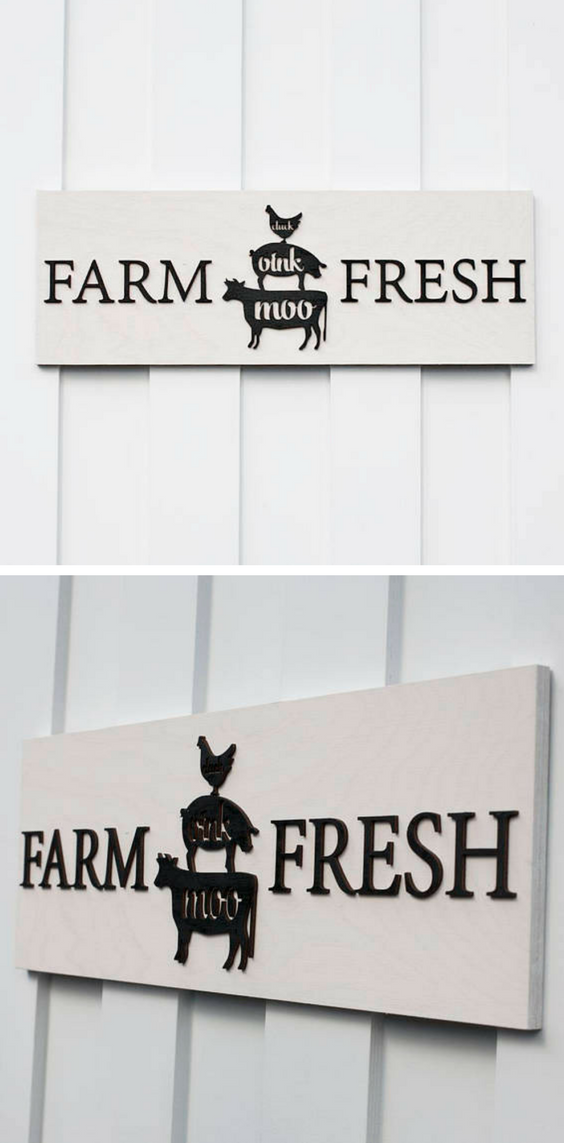 kitchen signs for work outdoor accessories farm fresh sign white wash house decor farmhouse farmhousesign farmfresh kitchensign art
