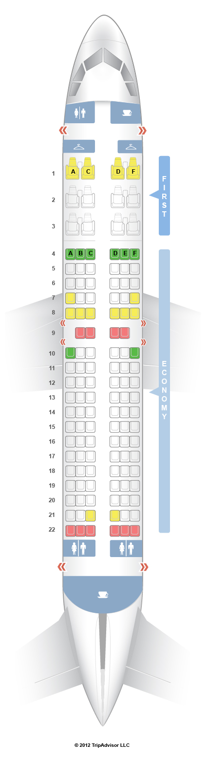 SeatGuru Seat Map US Airways Airbus A319 (From