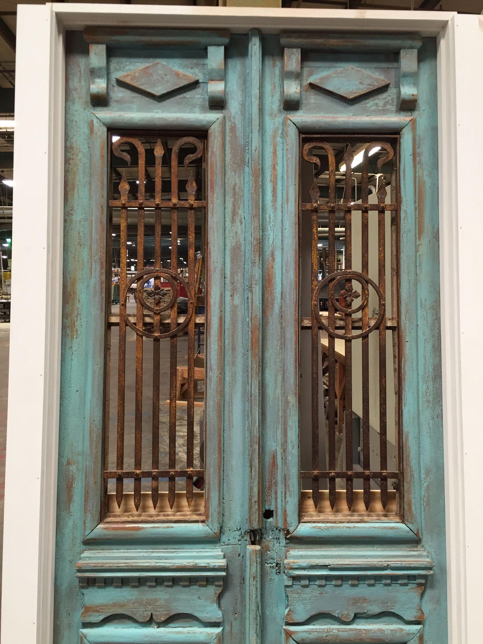 Customers Antique door slabs installed in a interior door frame. - Customers Antique Door Slabs Installed In A Interior Door Frame