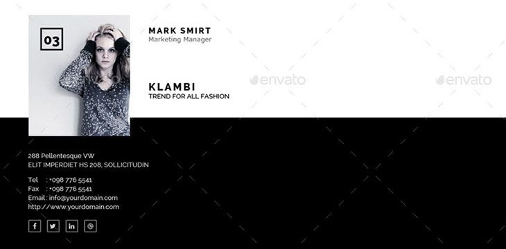 15 Awesome Email Signature PSD & HTML Templates Email