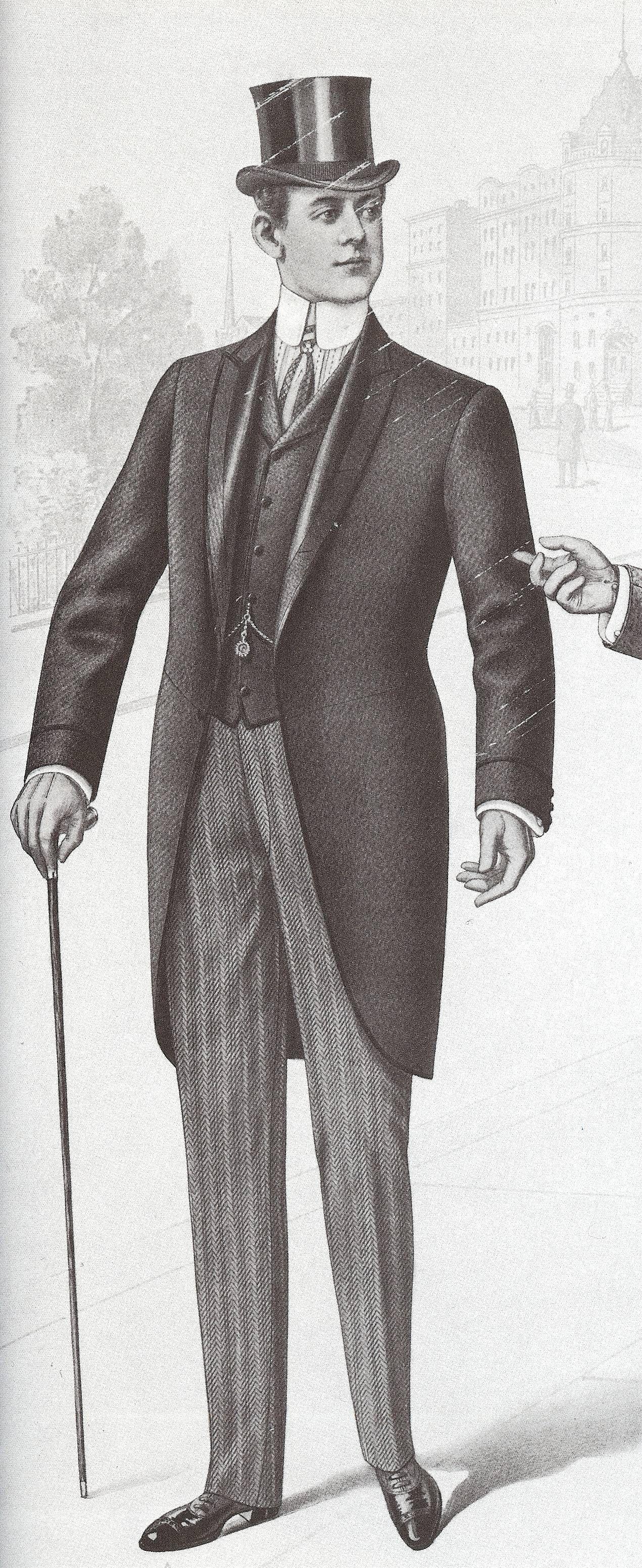 bd709f89d 1901, a man in a morning coat. | ART in 2019 | Morning coat, Coat ...
