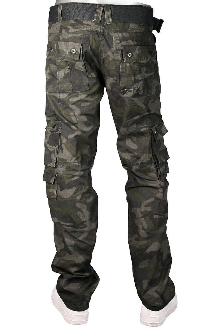 929e5de4cf20 Jordan Craig Camo Slim Fit Cargo Pants Charcoal - Black - Cement Gray Sz.  32x30  35.00