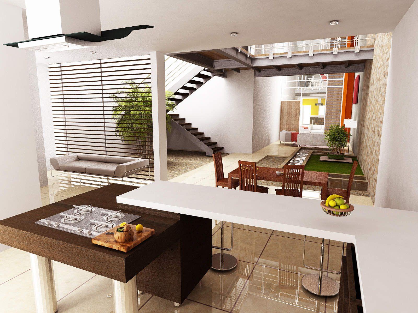Pin de desiree fernandez en arquitectura dise o e for Modelos de sala cocina