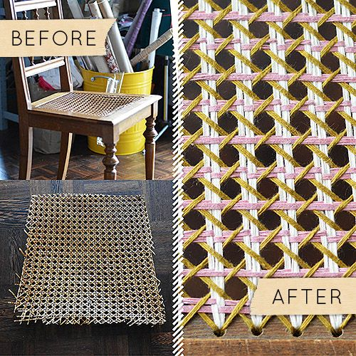 Pin By Jessie Joyner On Interiors Design Sponge Chair Repair Caning