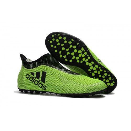 Adidas X - Adidas X Tango 17 Purespeed TF Football Boots Black Green | Football boots and Adidas football