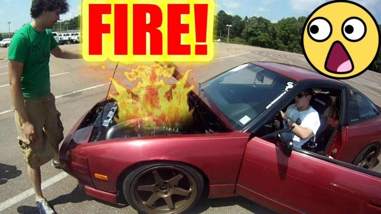 Superbe Nice CAR FIRE! Nissan 240sx S13 Drifting Reactions From Car Salesman
