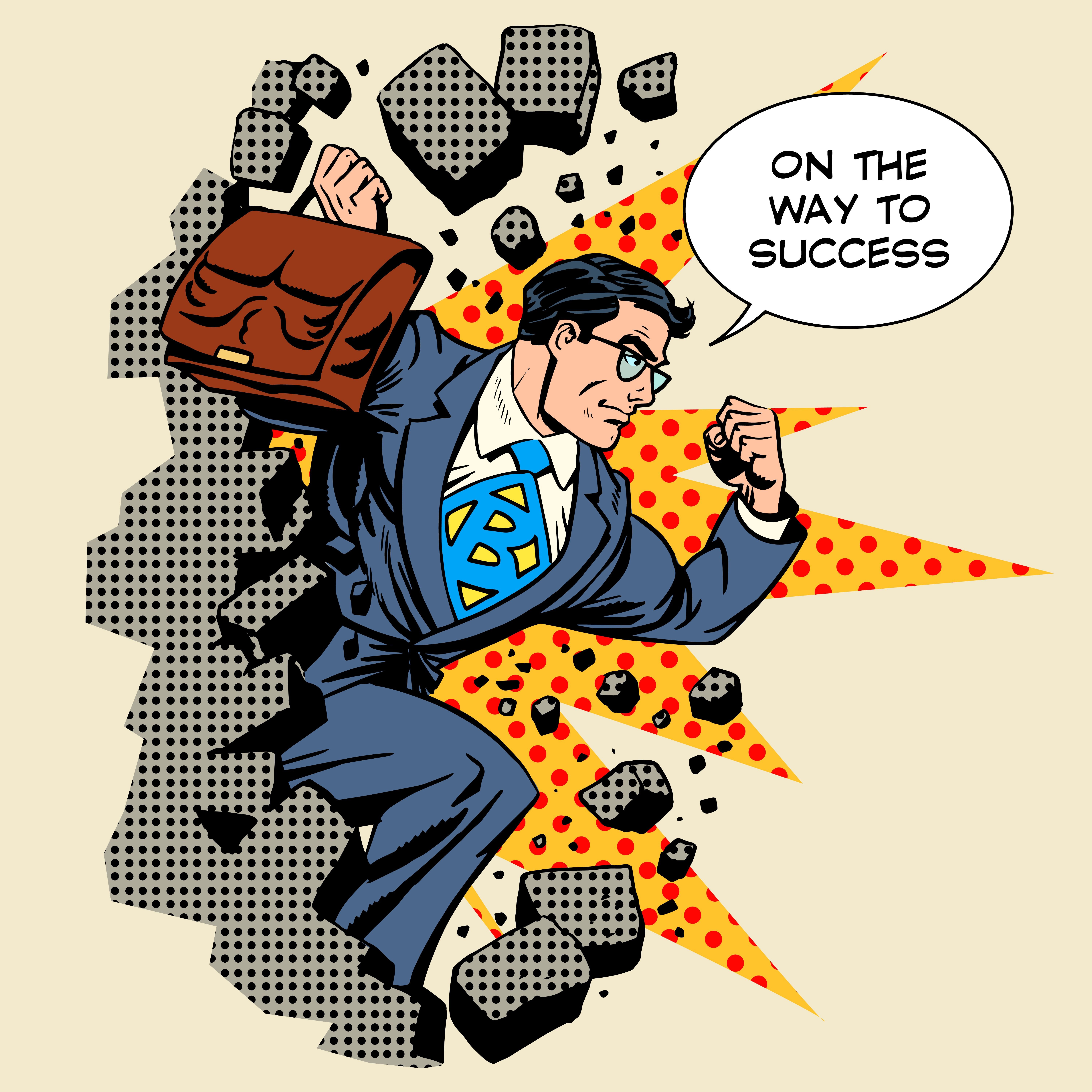 A Side By Side Boss Careers In Government Pop Art Comics Business Man