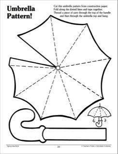 Umbrella Pattern  Manualidades En Papel    Patterns