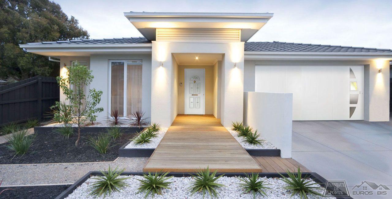 Porte d entree maison design jardin pinterest maison for Jardin entree maison