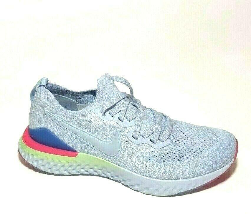 Nike Epic React Flyknit 2 Womens Running Shoes 10 Hydrogen