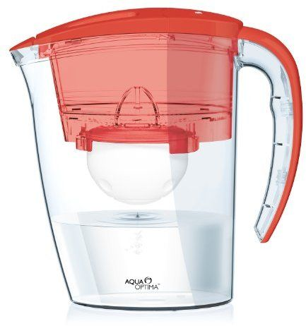 Aqua Optima Galia Chilli Red Water Filter Jug With 6x 60 Day Filters 1 Year Pack On Shopstyle Co Uk Water Filter Jugs Red Water Water Filter