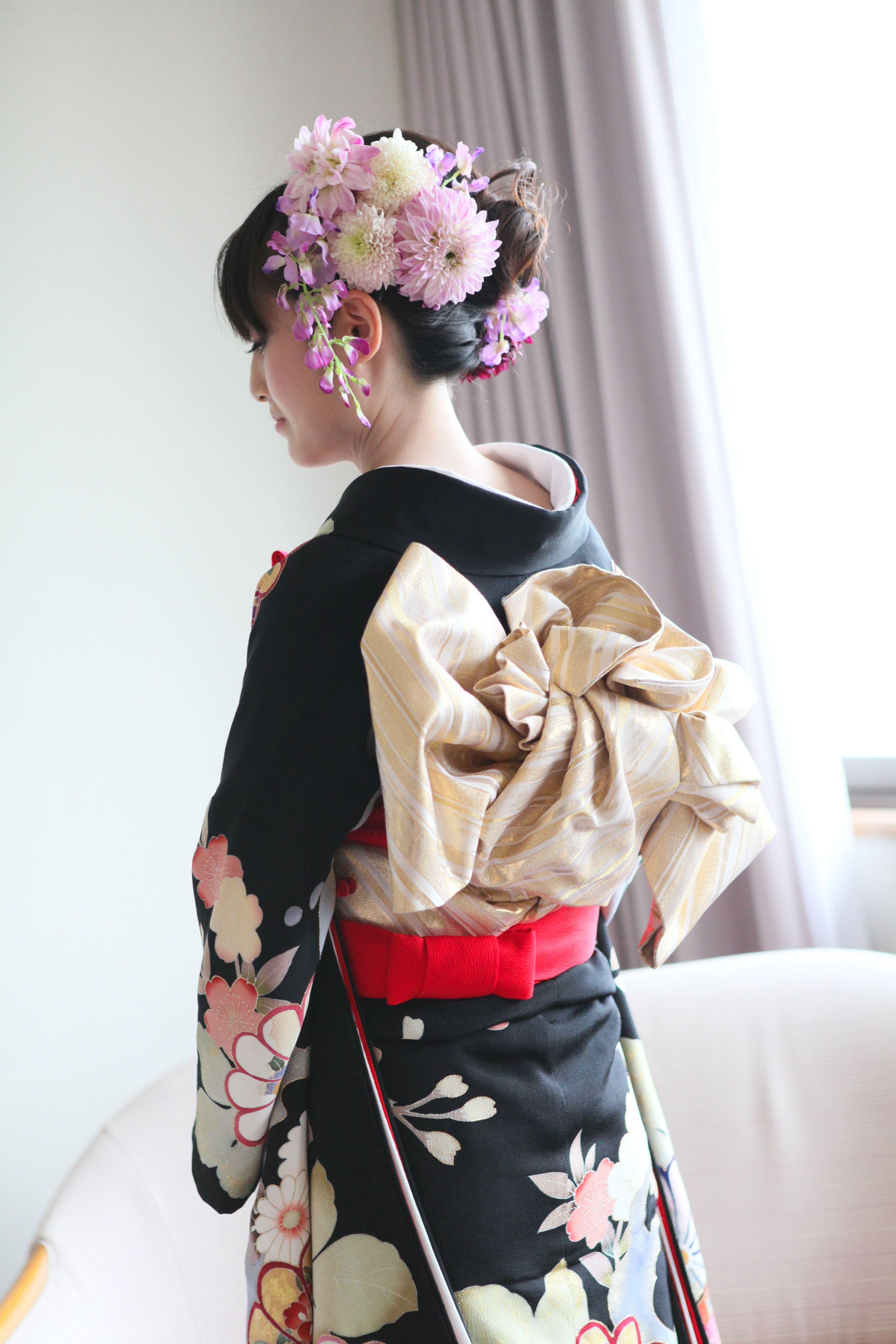 Japanese wedding - Gorgeous flowers on hair | Japanese ...