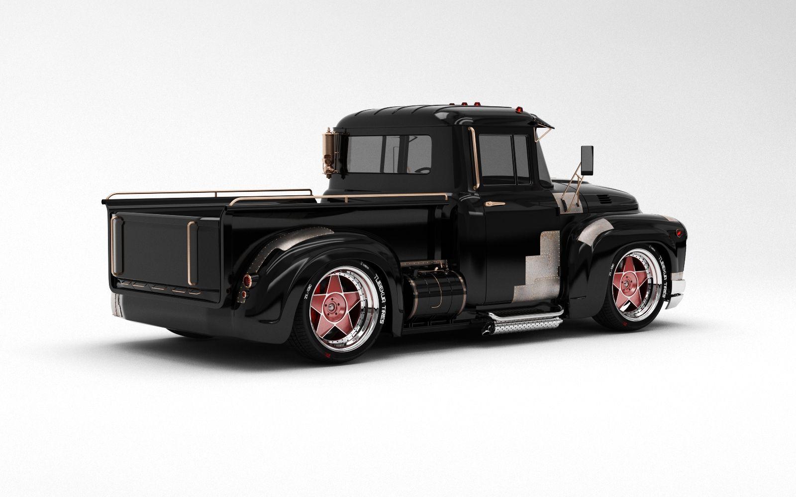 Custom pickup based on the Soviet truck ZIL model 130