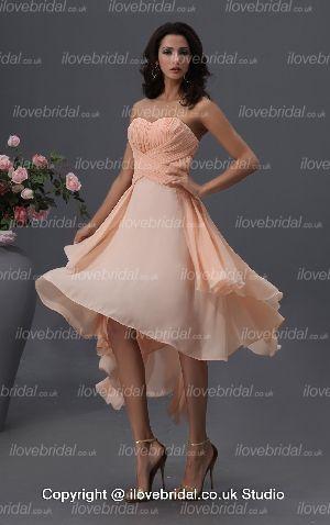 Orange A-line Chiffon Dress Sassy Sweetheart Pleated Cocktail Dress