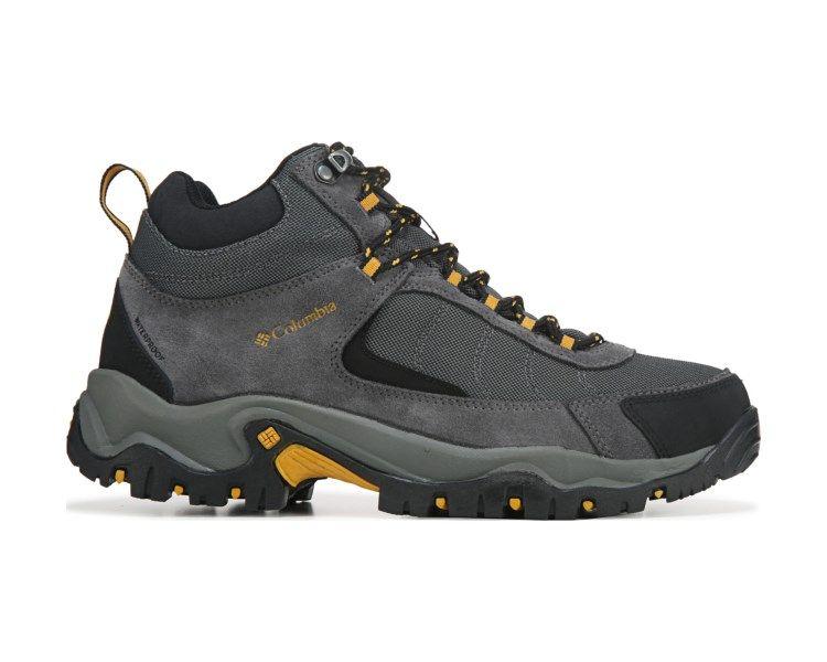 Columbia Granite Ridge Mid Medium Wide Hiking Boot Dark Grey Yellow Wide Hiking Boots Hiking Boots Columbia Boots
