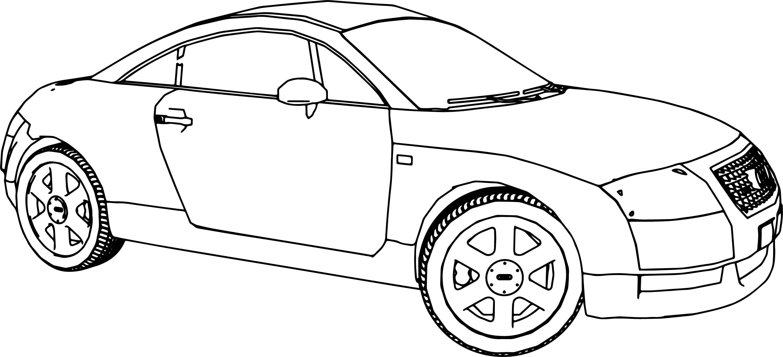 Nice Audi Tt 2 Car Coloring Page Cars Coloring Pages Audi Tt Audi