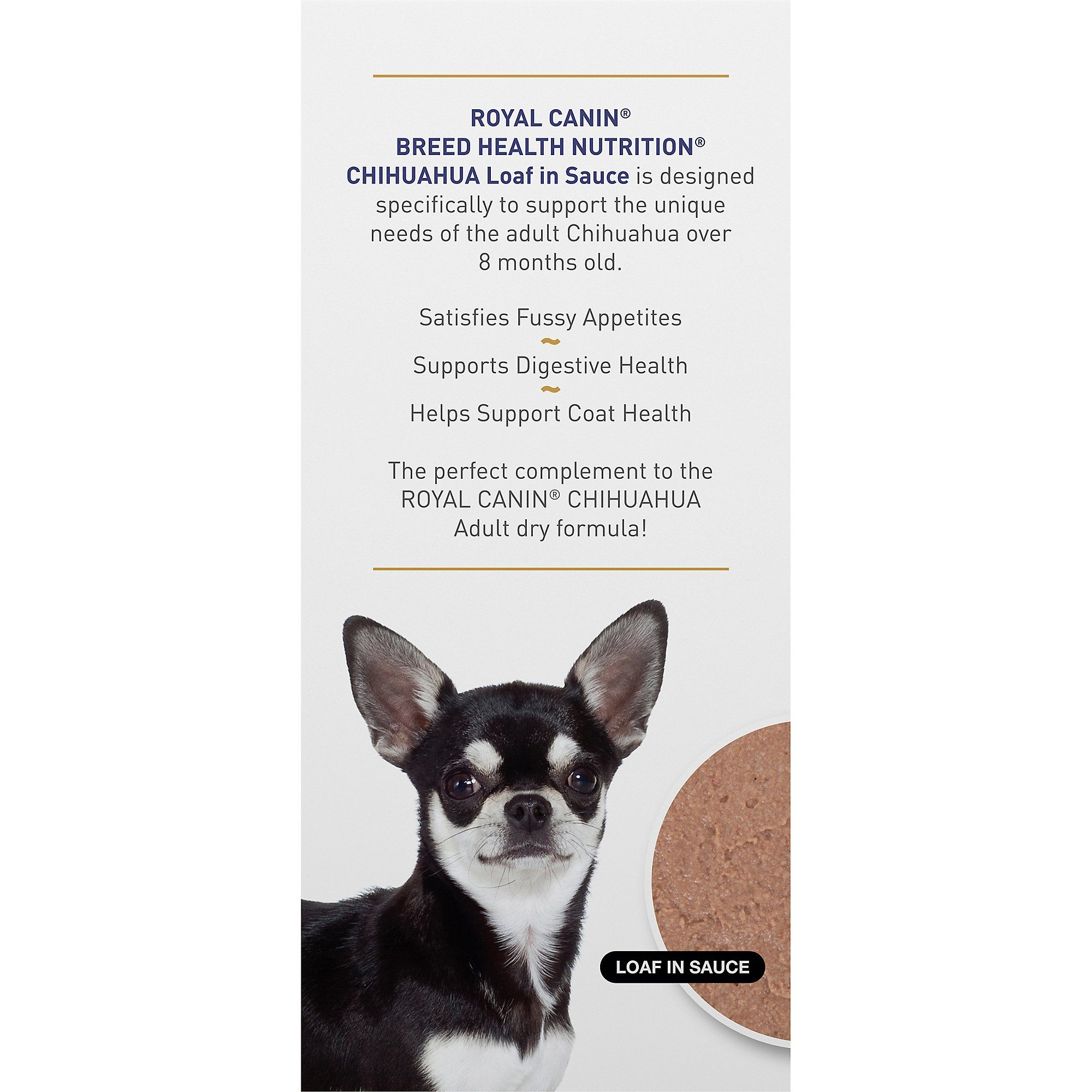 Royal Canin Breed Health Nutrition Chihuahua Loaf In Sauce Dog