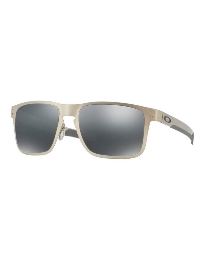 04f5de188d Sunglasses OAKLEY HOLBROOK METAL 4123-03 Satin Chrome Black Iridium (eBay  Link)