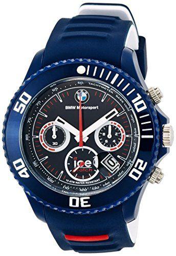 7fe86c30a72 Ice-Watch Herren-Armbanduhr XL BMW Motorsport Chrono Dark Blue Chronograph  Quarz Silikon BM.CH.DBE.BB.S.13