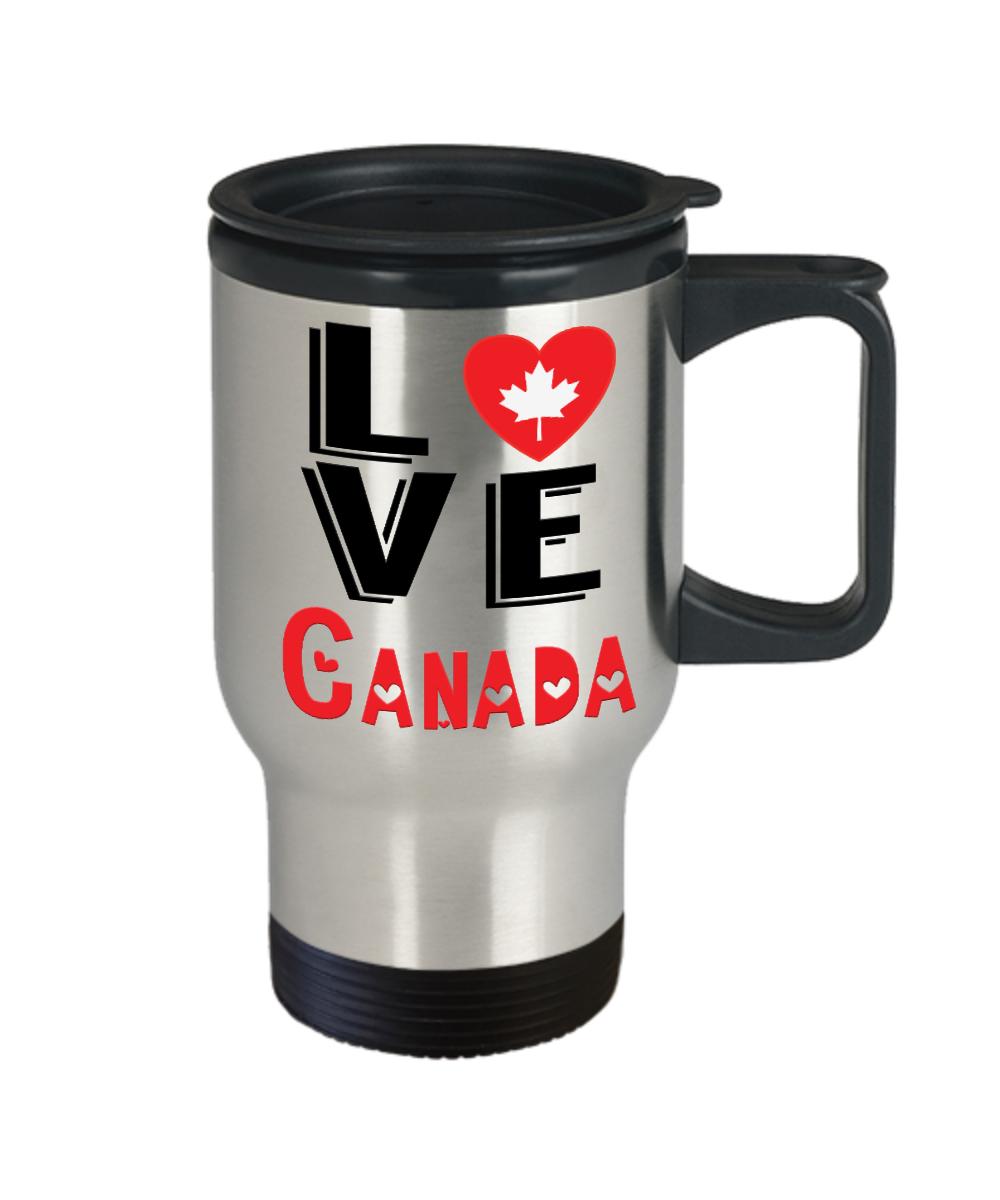 Love Canada Travel Mug Gift Novelty Canadian Keepsake