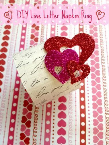 Valentine S Day Diy Love Letter Napkin Ring Holder Valentine