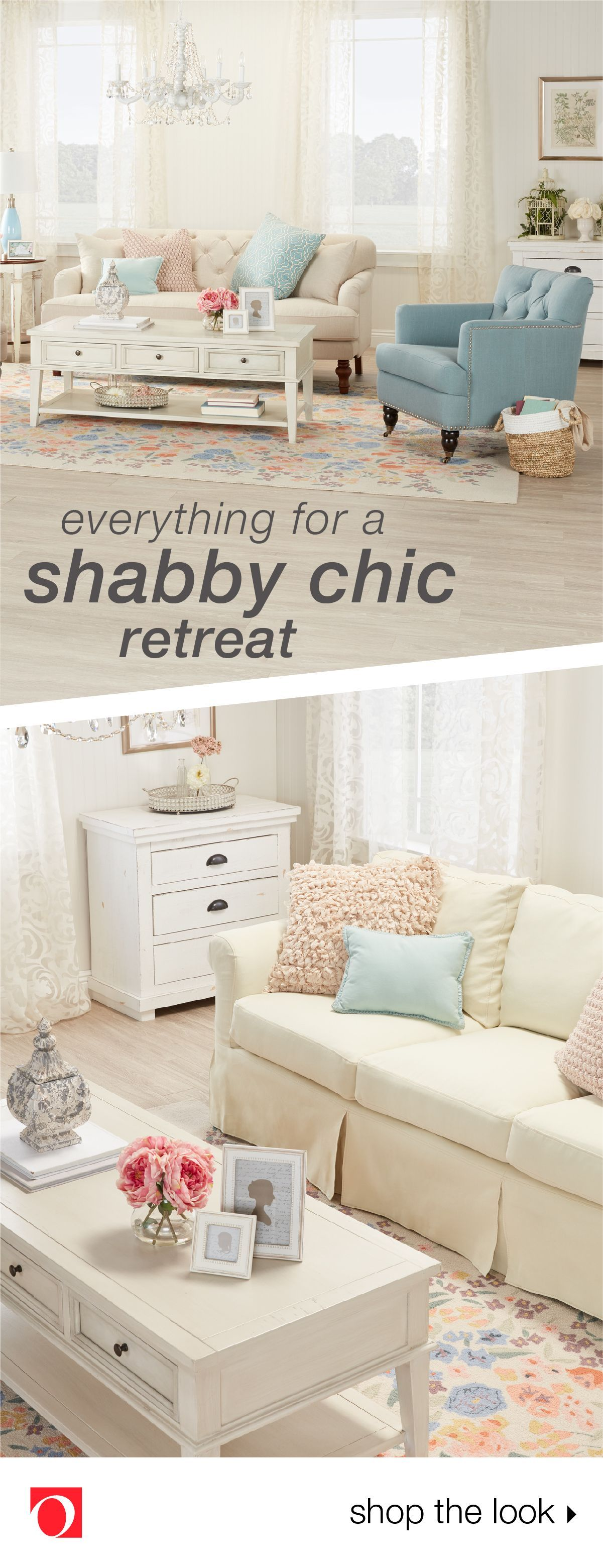 A Blend Of Classic Cottage Charm And Well Worn Comfort, Shabby