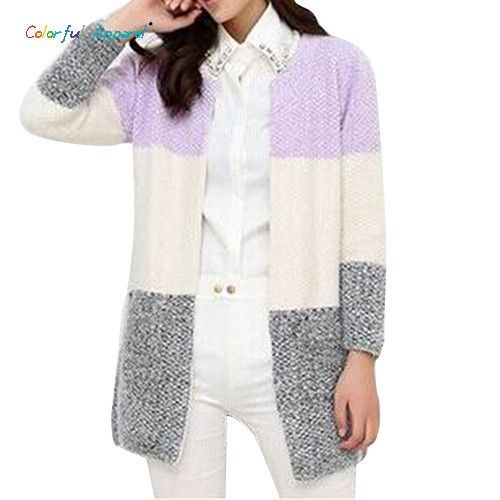 Colorful Apparel New Winter Spring Cardigans Women Fashion Mohair ...
