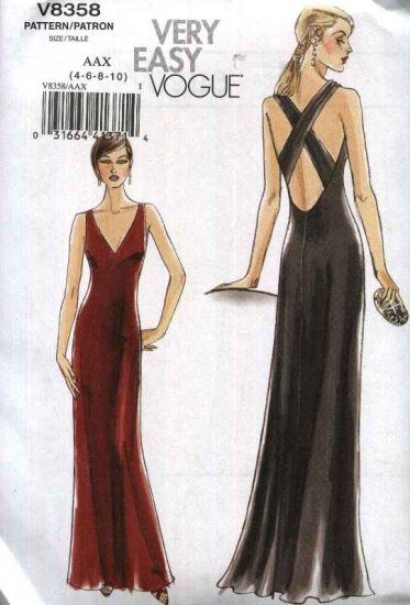 Vogue Sewing Pattern 8358 Misses Dress Description Dress Is