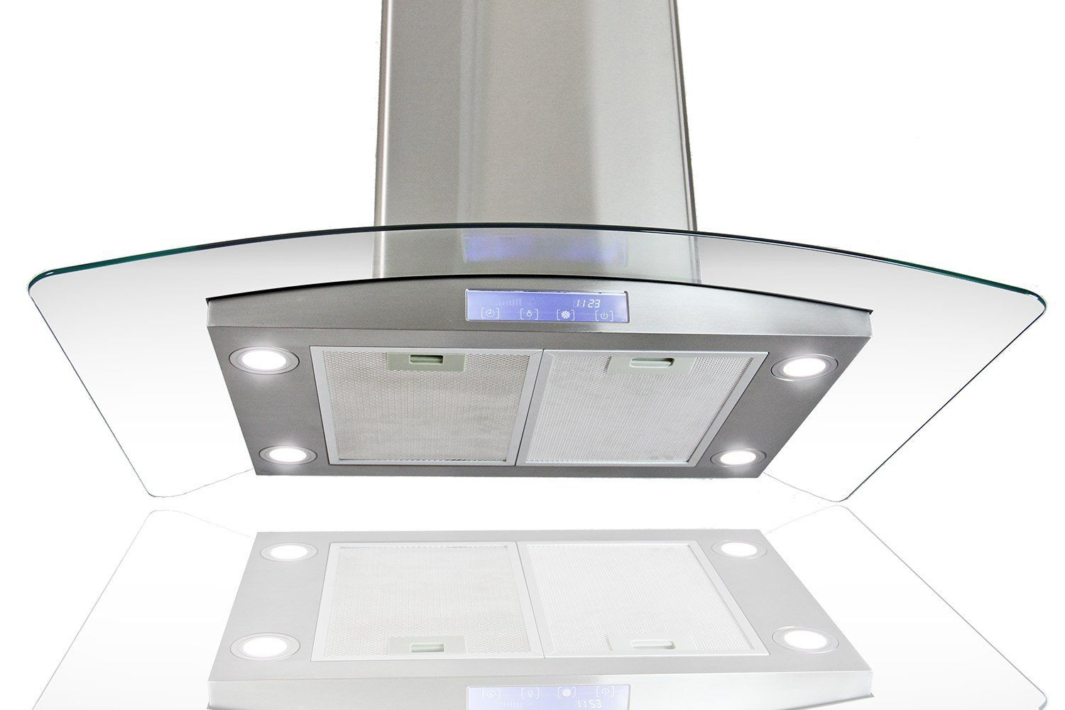 Firebird Stainless Steel 36 Euro Style Island Mount Range Hood Led Screen This Is An Amazon Affiliate Link Ch Stainless Steel Island Range Hood Led Lights