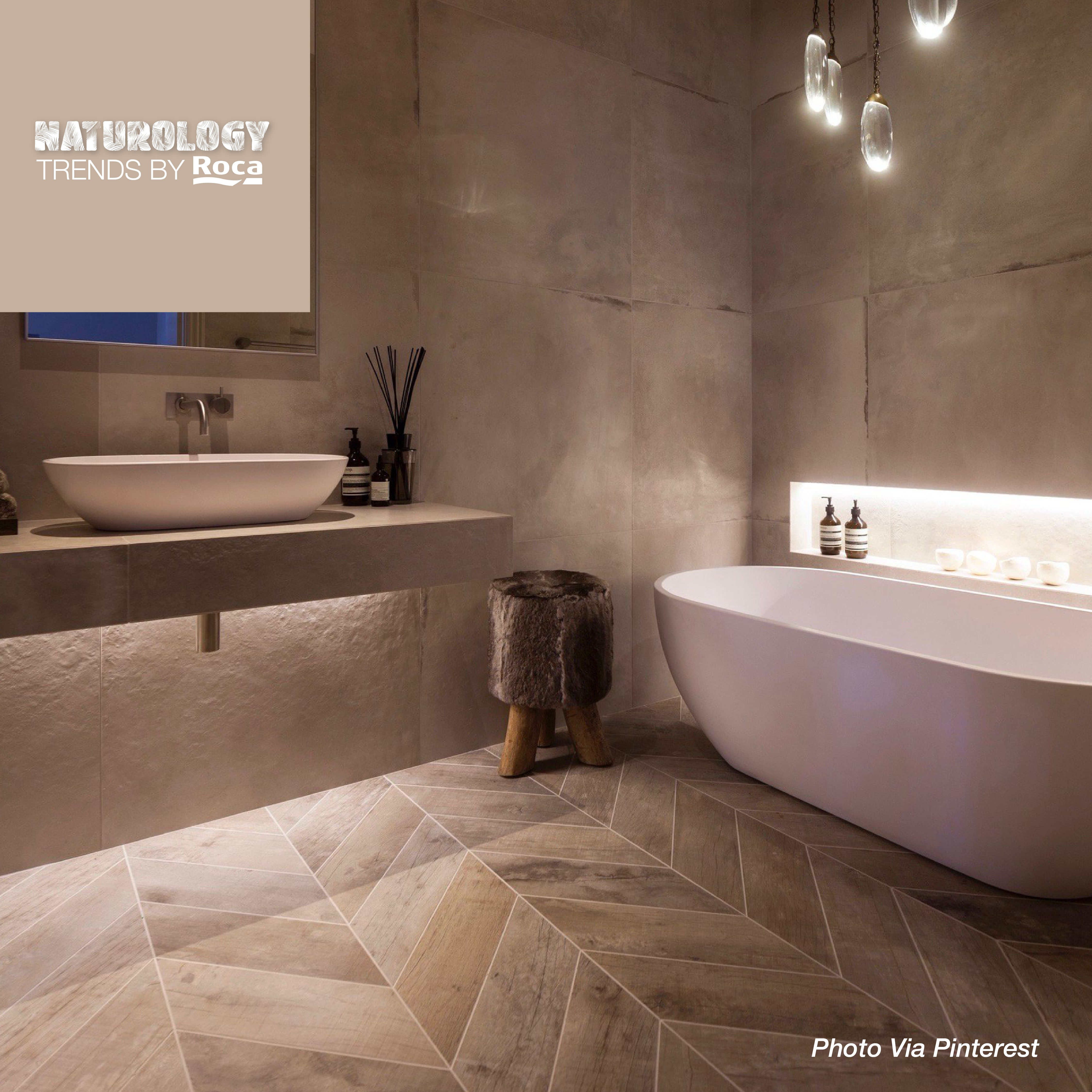 Pin By Roca Tile Usa On Naturology Trends By Roca 3 Spa Bathroom