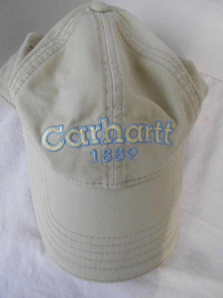 2c189ad0bbf11 Carhartt 1889 Baseball Hat Cap Light Green Velcro Adult One Size USA Cotton   Carhartt  BaseballCap