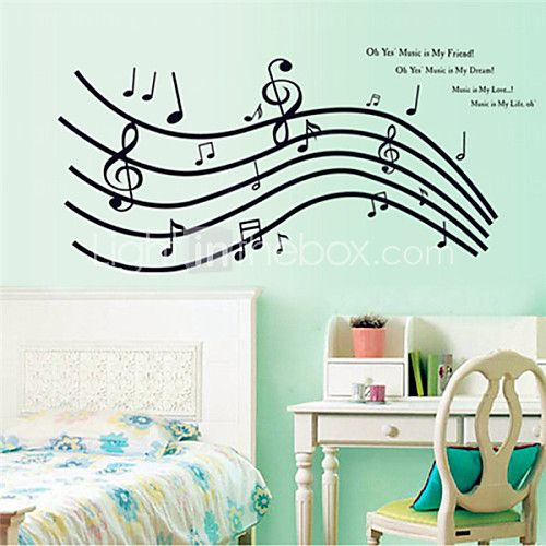 Wall Stickers Wall Decals, Wonderful Notes PVC Wall Stickers - USD $ 6.99